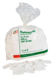Coton carré cotopads 5cm x 5 cm