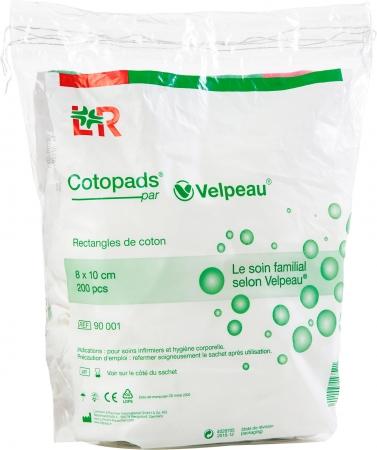 Coton rectangle cotopads 8 x 10 cm